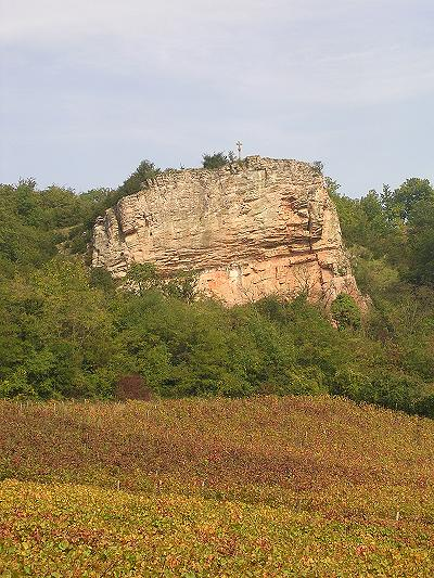 Escarpement à Saint Martin sous Montaigu